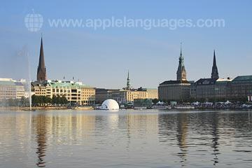 Hamburg from the lake