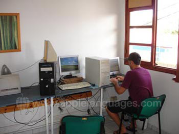 Internet cafe at our school
