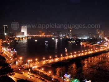 View over Cairo by night