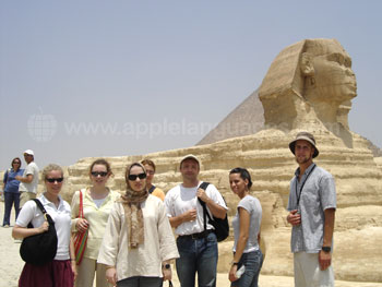 Students on excursion to see the Sphinx