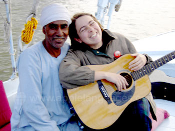 Playing music with the locals