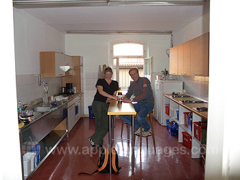 Kitchen in school residence
