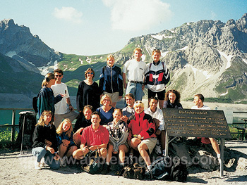 Students enjoying the bodensee mountains