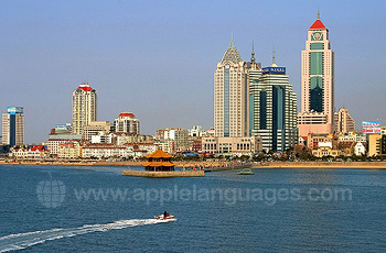 Qingdao commercial centre from the sea
