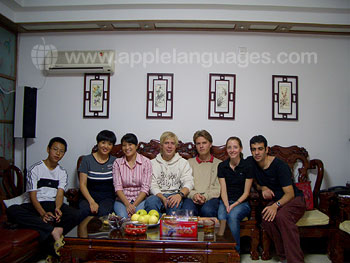 Students from our school in host family