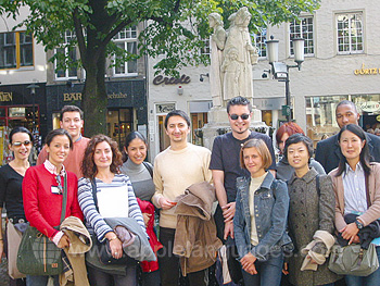 Students on guided tour of Munster