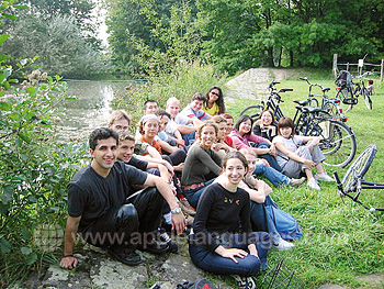 Students on cycling trip
