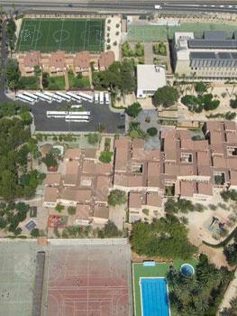 The school campus