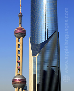 Detail of Shanghai skyline