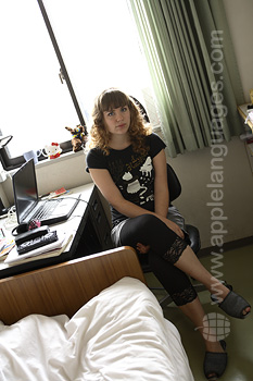 Student in shared apartment