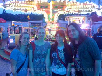 Students on excursion to fun fair