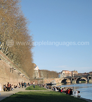 The riverbank in Toulouse