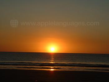 Sunset over Samara Beach