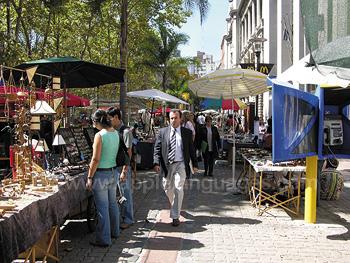 Street market in Montevideo