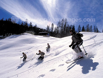 Skiing off piste