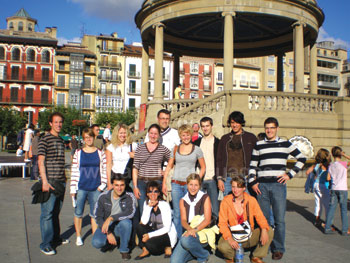 Students in Pamplona