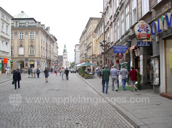 Typical street in Kraków