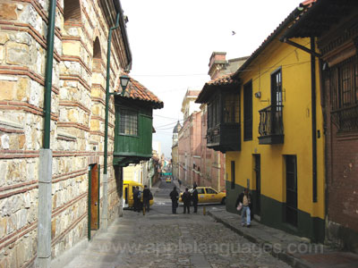 Typical street in Bogotá