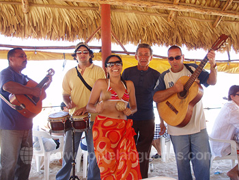 Musicians at the beach