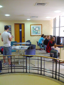 Computers in the reception area