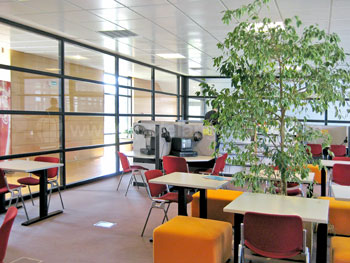 The study area and multimedia room