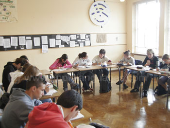 English class at our school in Dublin