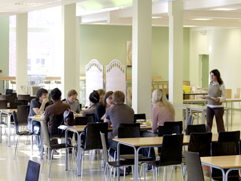The school cafeteria