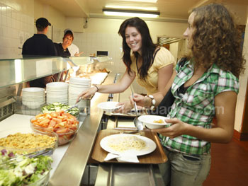The school cafeteria