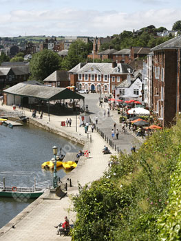 The waterfront in Exeter