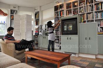 Living room in Host Family