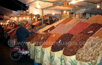A traditional Moroccan market