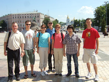 Students on guided tour of Kiev