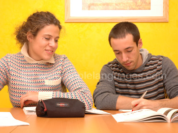Learning Italian at our school in Bologna