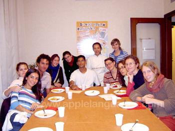 Students on the Italian Cuisine course