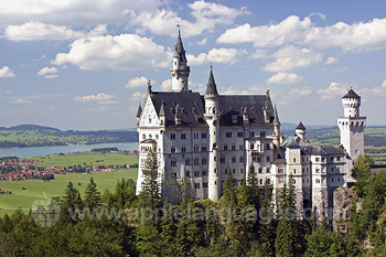 The fairytale Neuschwanstein castle