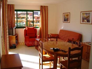 Inside apartment accommodation