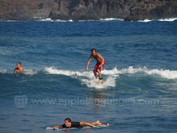 Learn Spanish and surf