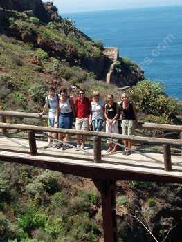 Students exploring Tenerife