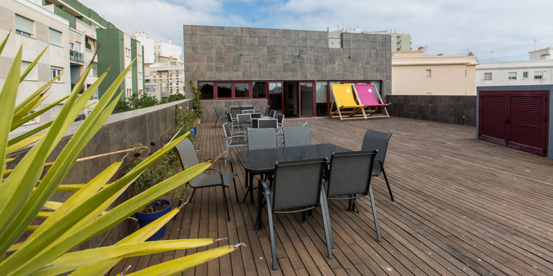 Large rooftop terrace