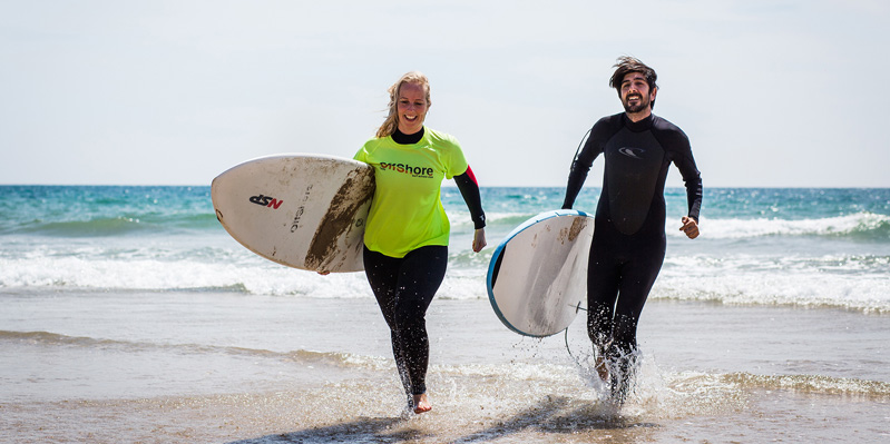 Spanish & surf courses