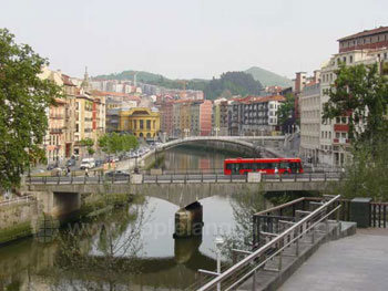 The river in Bilbao