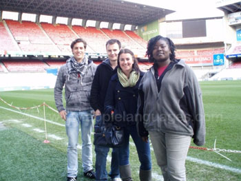 Visit to football stadium