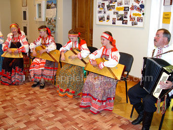Traditional Russian folk music display