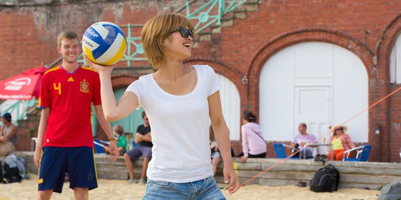 Sports on the beach