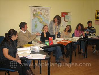 Italian lesson at our school