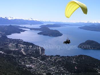 Paragliding over Bariloche