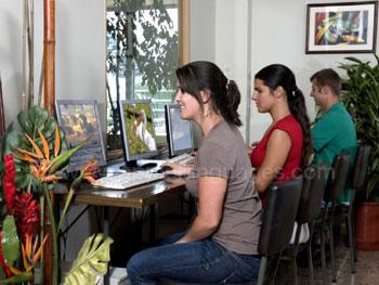The school Internet café