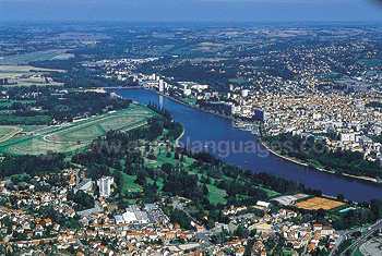 Aerial view of Vichy