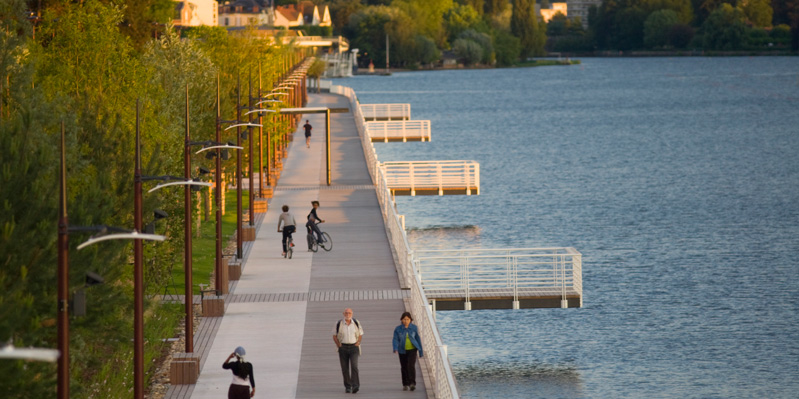 Boardwalk in Vichy, France