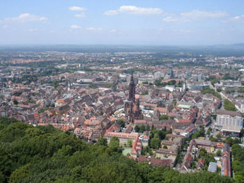 Aerial view of Freiburg